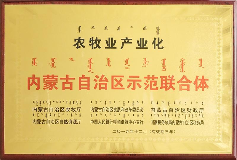 2020年1月被自治区评为农牧业产业化示范联合体